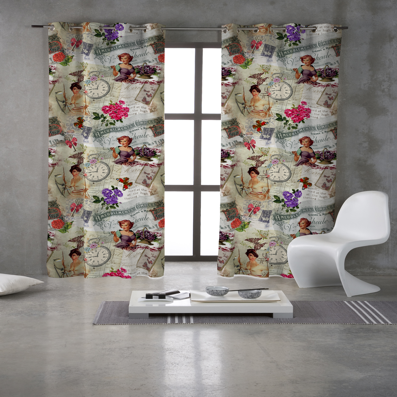 ELEGANT PIN UP CURTAINS